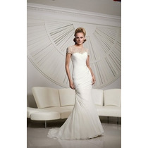 Hermoso Vestido De Novia Corte Sirena Boda Encaje Elegante