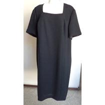 Vestido Negro Conservador Clásicotalla-18 Extra! Vt18