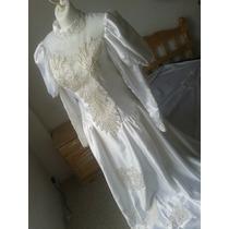 Vestido Novia Largo Cola Blanco