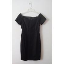 Vestido Negro Formal Trabajo Elegante Marca Zara