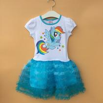 Vestido My Little Pony - (frozen, Peppa Pig, Rainbow Dash)
