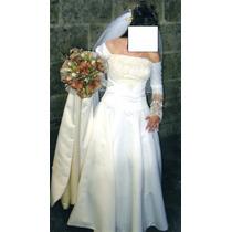 Vestido De Boda Talla 9 Color Ivory (beige Aperlado)