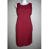 Liquidación! Precioso Vestido Color Vino Formal, Talla S