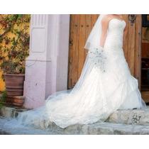 Precioso Vestido Pronovias Talla 9 Color Ivory Impecable