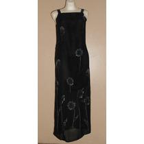 Casual Corner!!! Precioso Vestido Negro Diseño Moderno, T-ch