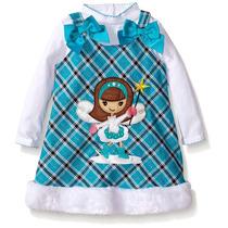 Vestido Niña Jumper Azul Dos Piezas Youngland,talla 5 Años