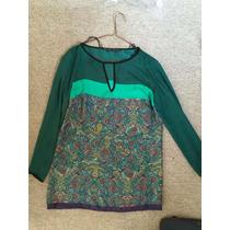Mini Vestido Corto Zara, Estampado Increible! Verde