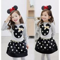 Bonito Vestidos Mickey Niña Promocion Moda Japonesa