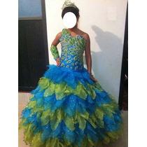 Hermoso Vestido Fiesta Talla 12 Diseñador Jose Luis Ortega