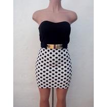 Moda Sexy Mini Vestido Blanco Y Negro A Cuadros Strapple