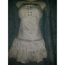 Hermoso Mini Vestido Blanco Strapless