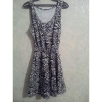 Vestido Rockabilly En Animal Print De Zebra. Unitalla