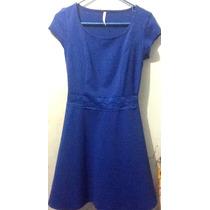 Limpia De Closet Vestido Casual Poco Uso Azul Rey