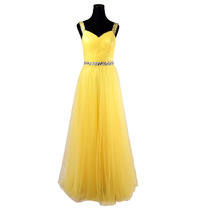 Baituya Gasa Amarilla Vestidos De Fiesta Vestido De Noche La