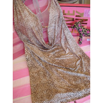 Victorias Secret Mini Vestido Cheetah Print Sz M
