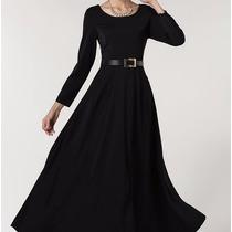 Vestido Casual Largo Moderno Elegante Envío Gratis 2634