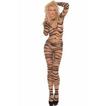 Sexy Lenceria Body Animal Print Tigre Completo Table Dance