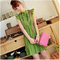 Hermoso Vestido Corto, Retro. Moda Asiática, Japonesa!!