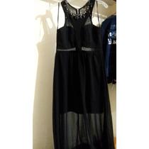 Vestido De Noche Negro Largo