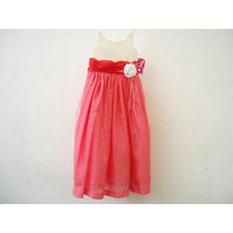 Bonito Vestido Para Niña Rosa/beige Talla 5