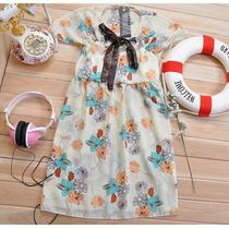 Vestido Corto Bonito Casual Con Moño De Temporada Lindo