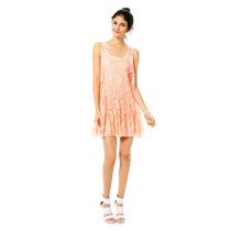 Pink Connection - Vestido De Encaje - Durazno - D14627