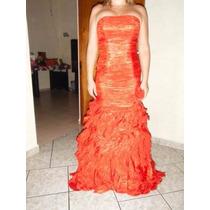 Vestido De Fiesta Letcy Pat Color Rojo Tipo Sirena