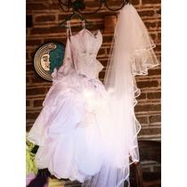 Vestido De Novia, Color Blanco, Excelente Estado