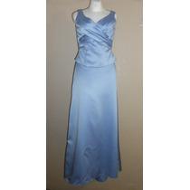 Mori Lee! Vestido De Fiesta Azul Claro, Cola Larga, Talla 10