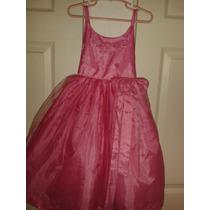 Vestido Graduacion Rosa Niña Talla 4 Hermoso Tul Gerat Niña