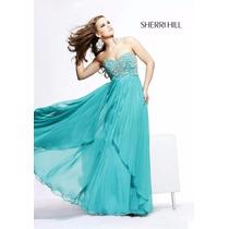 Vestido Sherri Hill Aqua Diseñador
