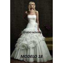 Vestido De Novia Nuevo Barato Bonito Elegante Promoción 18