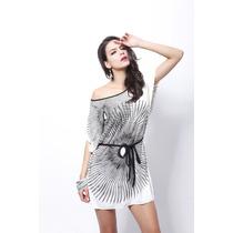 Vestido Dama Casual Corto De Día Minimalista Moda Temporada