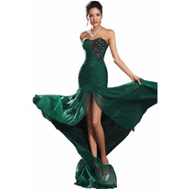 Baituya Vestido De Boda De Baile Verde Sensual