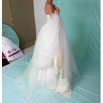 Vestido De Novia, Talla 6, Color Ivory, Nuevo, De Diseñadora