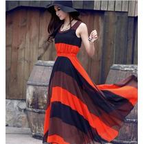 Elegante Vestido Japones Largo De Fiesta Casual Mod 577