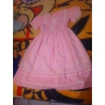 Vestido Manta 6 Años Rosa Claro Niña