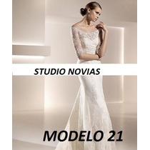 Vestido Novia Nuevo Barato Bonito Elegante Linea A 21