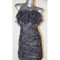 Vestido Straples Chiffon Talla M Solo $ 150.00