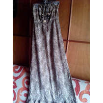 Hermoso Maxi Dress Animal Print Strapless.