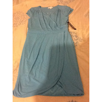 Vestido Casual Color Azul Bajito Nuevo Comprado En Usa