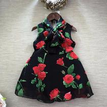 Vestidito Negro Con Rosas