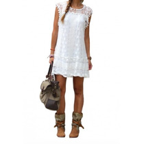 Vestido Blanco Super Moda Juvenil Sexy