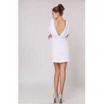 Baituya Elegante Blanco Con Cuello En V Fiesta Vestido Corto