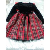 Vestido Niña 6 Años Goodlag Collections Negro Con Rojo