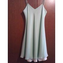 Vestido Verde Aqua Dama Talla M De Eua