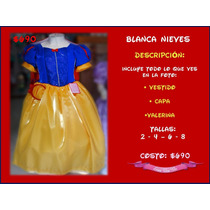 Vestido Blanca Nieves & Princesa Sofia Disney Disfraz Niña