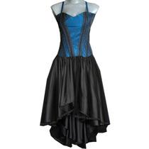 Vestido Corset Gotico Eretica Dark Steampunk Asimetrico