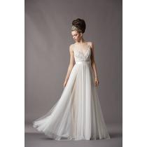 Vestido De Novia Boda Tull Encaje Elegante Hermoso Princesa