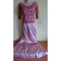 Vestido De Fiesta Corte Sirena Manga Larga Talla Xch-ch